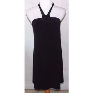 White House Black Market Halter Dress Sz 2 Buckle